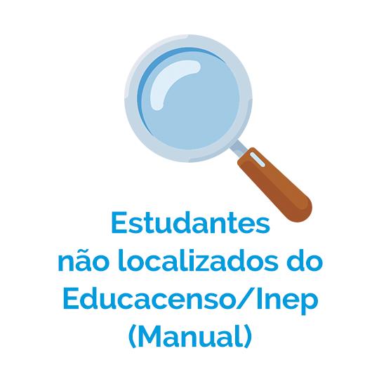 Estudantes não localizados do Educacenso Inep